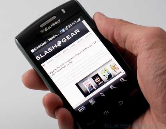BlackBerry Storm2 to get OS 5.0.0.1015 on Verizon