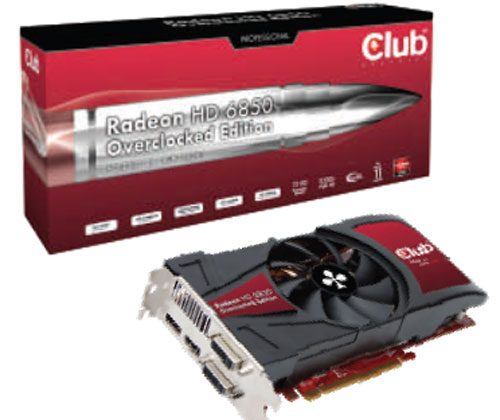 Club 3D unveils overclocked Radeon HD 6850 video card