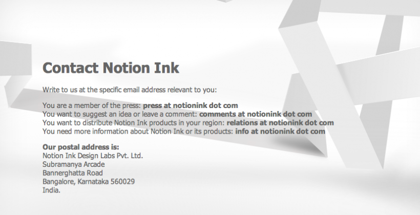 Notion Ink's Adam Tablet Official Website Released