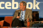 George W. Bush Visiting Facebook HQ [LIVE VIDEO]