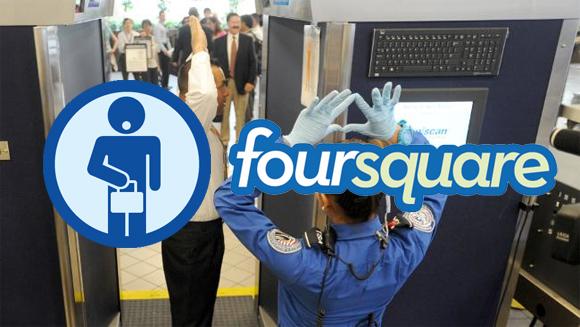 "Foursquare Mocks TSA Airport Screenings with ""Baggage Handler"" Badge"