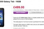 Samsung Galaxy Tab for £499.99 at PC World