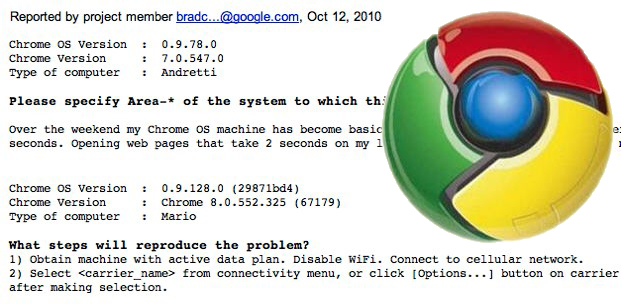 """Google """"Mario"""" and """"Andretti"""" Chrome OS netbooks in internal speed testing?"""