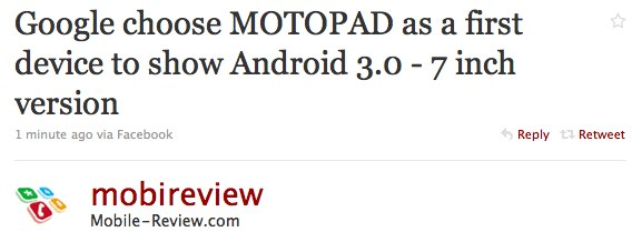 Android 3.0 MOTOPAD is Motorola & Google's Honeycomb opener?