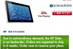 "HP: ""Extraordinary demand"" for Slate 500 prompts six week wait"
