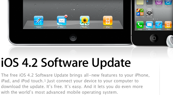 iOS 4.2 Now Available