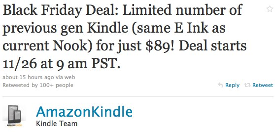 $89 Kindle 2 for Amazon's Black Friday sale