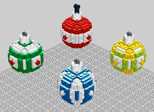 Lego Christmas tree ornaments are perfect for geek cheer