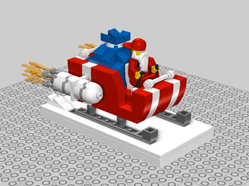 DIY Lego Santa sleigh for geeky festiveness