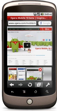 Android gets new Opera Mobile 10.1 beta browser option [Video]