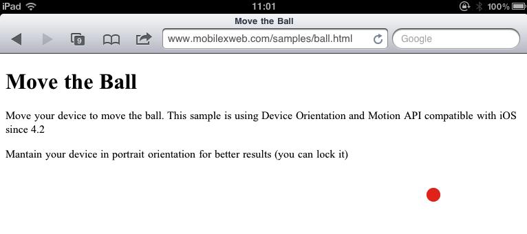 Mobile Safari gets orientation API in iOS 4.2 for tilt-sensitive sites