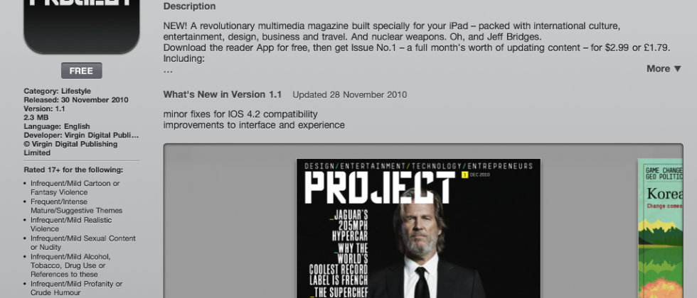 Project iPad magazine arrives in App Store