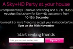 Sky offers free flicks to Sky+HD Party hosts