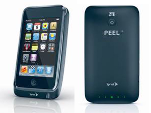 Sprint ZTE PEEL 3G cradle for iPod touch will be $80