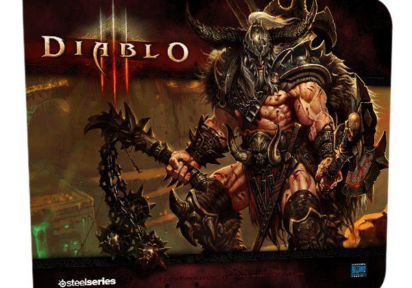 Diablo 3 Barbarian QcK Mousepad Released by SteelSeries