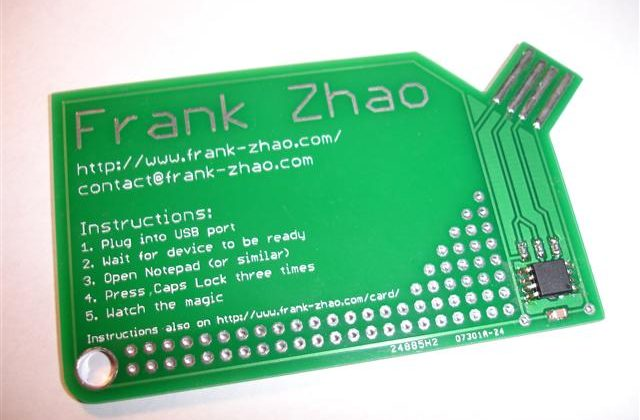 "Frank Zhao Creates ""Flat"" USB Business Card"