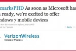 "Verizon ""excited"" about Windows Phone 7; will offer devices as soon as Microsoft has them"