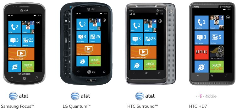 Windows Phone 7 on sale in US