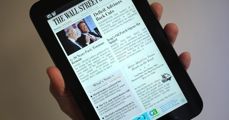 Wall Street Journal for Android tablets hands-on