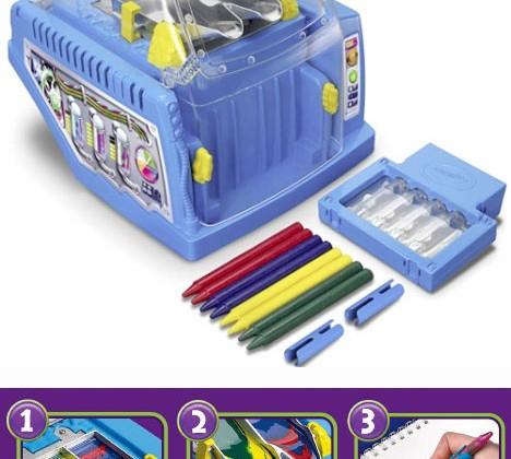 Crayola Crayon Maker Recycles Your Crayons, Jumbles Colors Together
