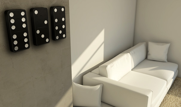 Carbon Design Group's Domino Clock Concept Uses Huge Domino Blocks to Tell Time [Video]