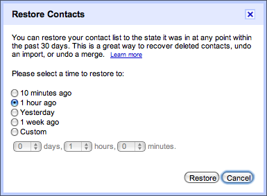 Google Contacts Now Lets You Restore Deleted Entries