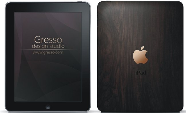 Gresso iPad Features 200-Year-Old Wood and 18K Gold Apple Logo, Goes on Sale New Year's Eve