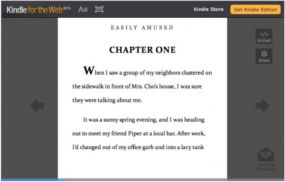 Amazon Kindle for Web full ebook access to get previewed today
