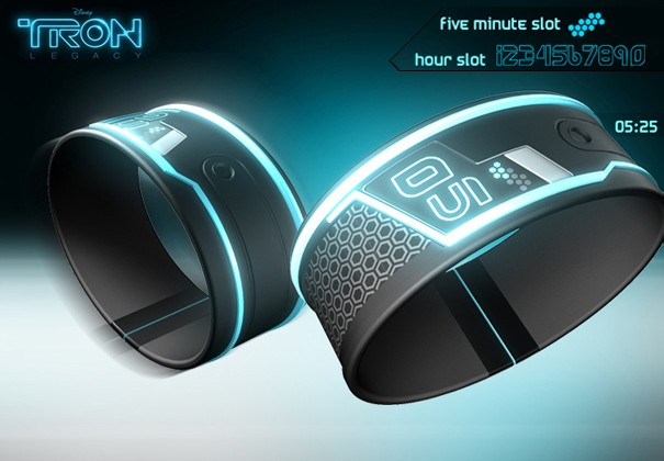 TRON Watch Concept Design Uses Hexa-Slots to Tell Time