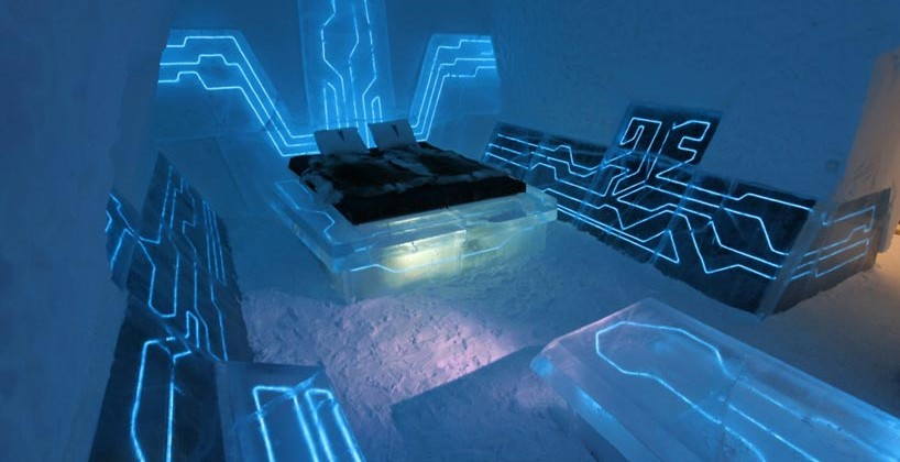 Extreme Design Legacy of the River TRON-Themed Room in Ice Hotel is Awesome [Video]