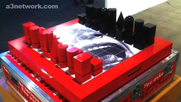 Barbara Kruger computerized chess set isn't impressed by your bishop [Video]