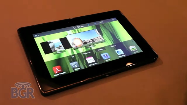 BlackBerry PlayBook poses for lengthy video demo