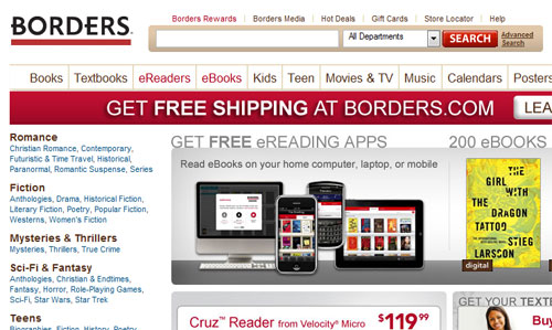 Borders financial problems slow payments to publishers