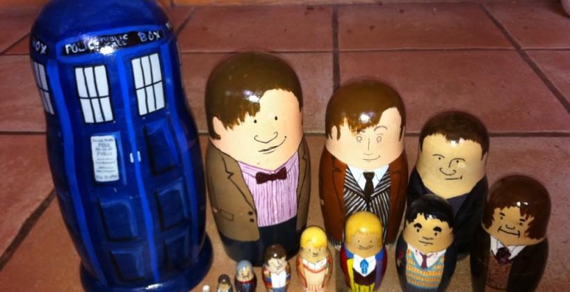 DIY Doctor Who nesting dolls set perhaps best Christmas gift so far