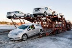 Chevy Volt loaded on to car carriers and on way to first customers