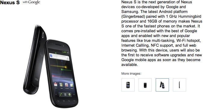 Google Nexus S official