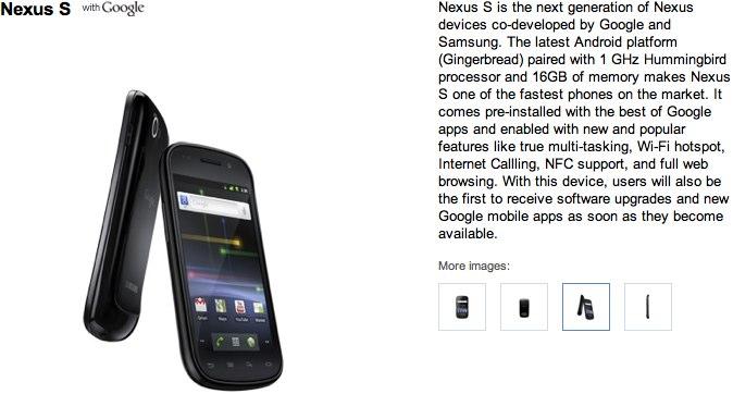 Google Nexus S official