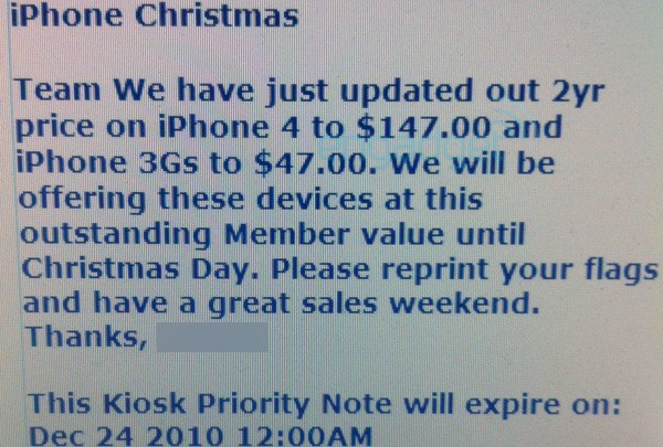 Sam's Club Selling iPhone 4 for $147 Until Christmas Day