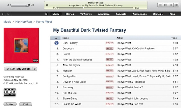 iTunes 90-second song previews added to US iTunes store
