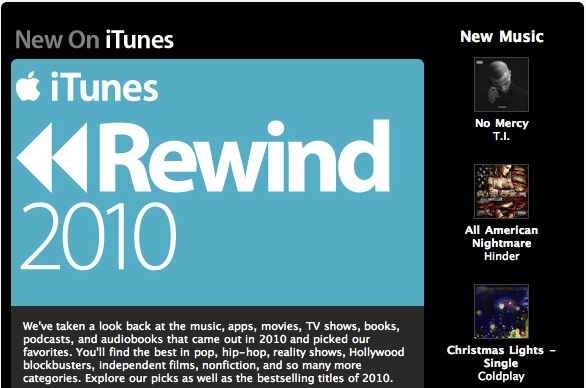 Apple iTunes Rewind 2010 highlights hot trends in iOS apps