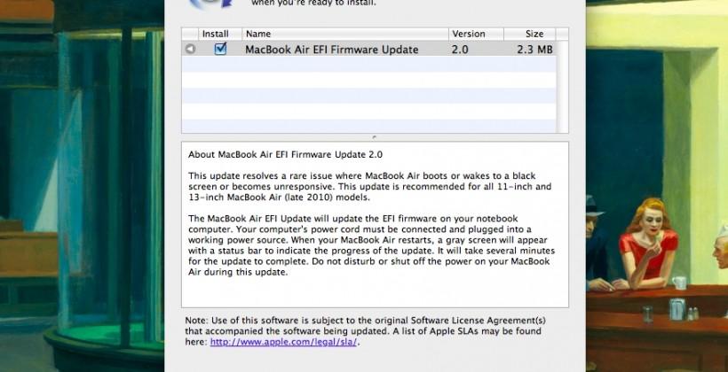 MacBook Air screen glitch fix released