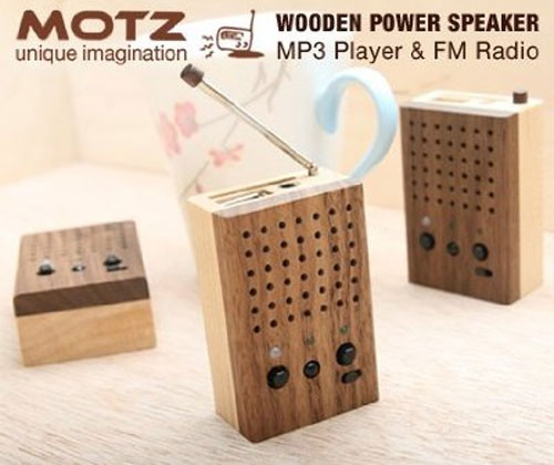 Motz Tiny Wooden Power Speaker isn't made by Geppetto