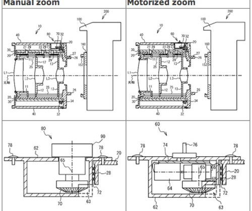 Nikon patent surfaces for lens with manual and motorized zoom