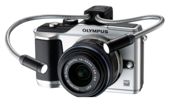 Olympus PEN E-PL2 leaks again with Close Up Spotlight accessory
