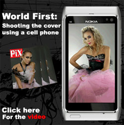 Nokia N8 shoots pics for PiX Magazine cover