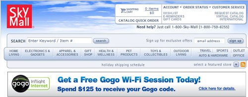Gogo and SkyMall offer free store access on flights