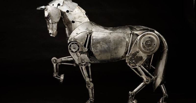 Andrew Chase Steampunk Mechanical Horse is galloping marvel
