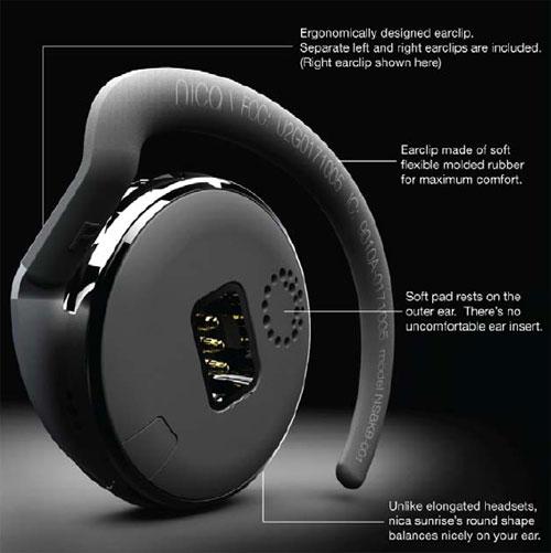 Nica Sunrise Bluetooth Headset Looks Like A Hockey Puck Slashgear