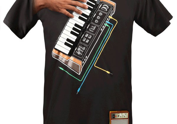 ThinkGeek ships uber geeky Electronic Music Synthesizer shirt