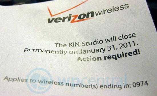 KIN Studio shutting down as Verizon pulls plug in January 2011
